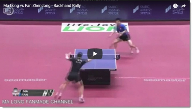 MaLongvsFanZhendong BackhandRally